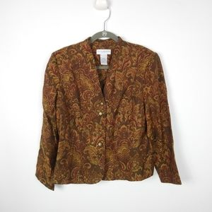 Sag Harbor Paisley Jacket Size Women's Size 14 P